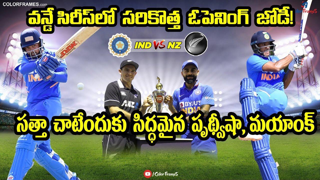 India vs New Zealand: Prithvi Shaw, Mayank Agarwal make ODI ...