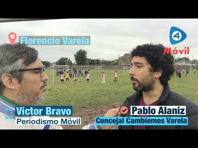 """Pablo Alaniz: """"Vamos a estar todos los días del 2018 recorriendo los barrios de Florencio Varela"""""""