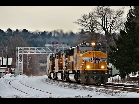 [HD] End Of 2016 All Nighter In Upstate, NY On CSX's Mohawk Subdivison. 12/30-12/31/16
