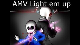 AMV Fall out Boy - Light em up (Remix) Glitchtale