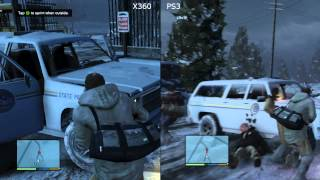 (18) GTA 5 [Pt.1] - XBox 360 v PlayStation 3 (PS3) Grand Theft Auto V Gameplay Test