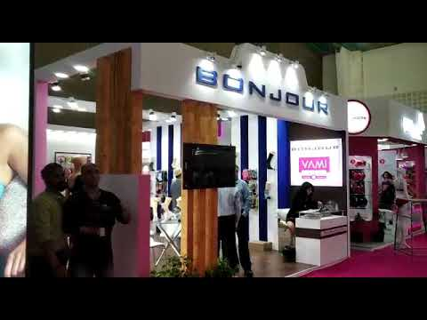Exhibition Stall Designed And Constructed For Bonjour In 20th Bodywear Expo 2019 At Ahemdabad