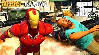 GTA 5 - IRON MAN MOD - FUNNY MOMENTS - Grand Theft Auto 5 Gameplay Video