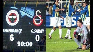 06.10.2002 I FENERBAHÇE 6-0 GALATASARAY (MAÇ ÖZETİ)