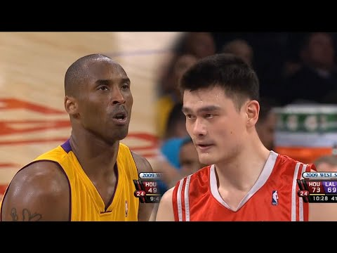 Yao Ming vs Kobe Bryant Full Duel Highlights 2009 WCSF 1 - 60 Pts, 18 Rebs Combind!!!
