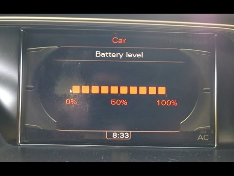 audi a4 my2011 battery level display activation. Black Bedroom Furniture Sets. Home Design Ideas