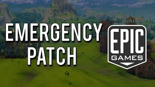 EMERGENCY PATCH Coming to Fortnite! + What It Means For Playground