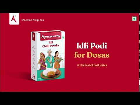 Podi for Idlis is also Podi for Dosas   Annapoorna Masalas & Spices