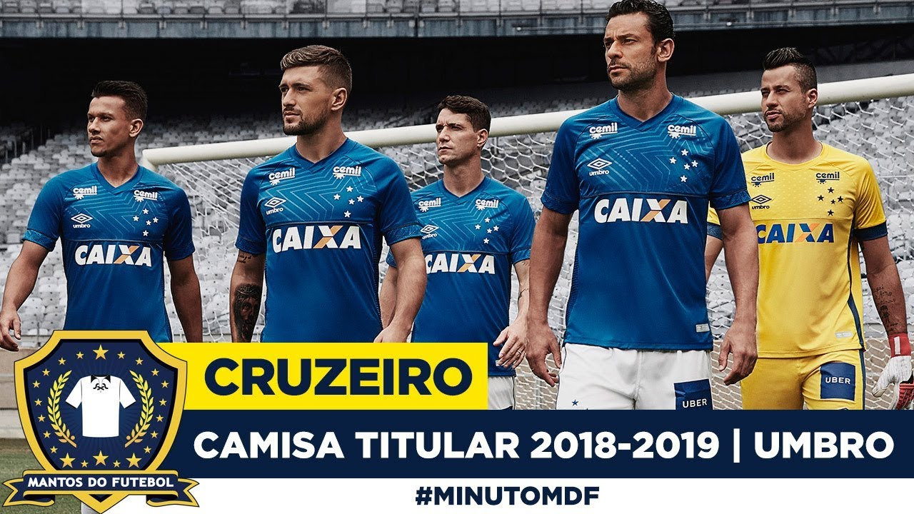Camisa titular do Cruzeiro 2018-2019 Umbro - YouTube 2d734714dc272