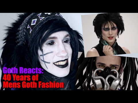 Goth Reacts to 40 Years of Men's Goth Style (in under 5 minutes)
