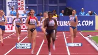 Чемпионат Европы по легкой атлетике. Эстафета 4х400 женщины квалификация. УКРАИНА 1 место