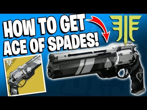 Destiny 2 - How To Get THE ACE OF SPADES EXOTIC Hand Cannon In Forsaken / Cayde's Will Questline