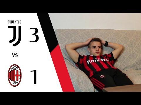 Ingiusto.   juventus 3-1 milan - live reaction gol hd