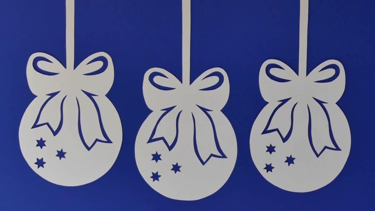 Weihnachtsdeko christmas decoration aus papier for Edle weihnachtsdeko