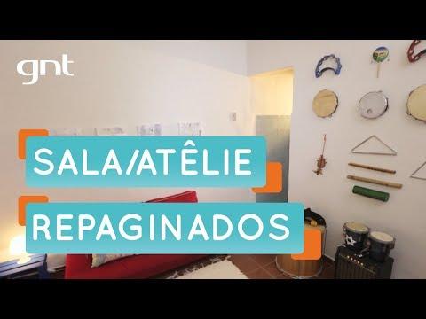 Uma sala e ateliê REPAGINADOS | Organização | Santa Ajuda | Micaela Góes