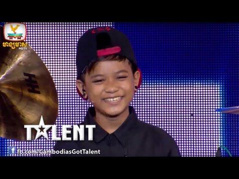 Kid Drummer Audition! Cambodia's Got Talent Judge Audition - Week 2 - PP 0670 សួន បូរី - 07 Dec 2014