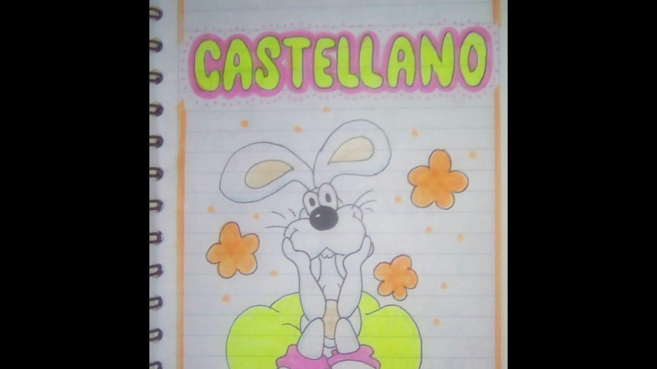 Caratulas Color Cuadernos Escolares Infantiles Dibujos Para 2: Caratulas Para Un Cuaderno De Castellano Como Marcar Los
