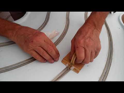 New method of installing slot car track braid