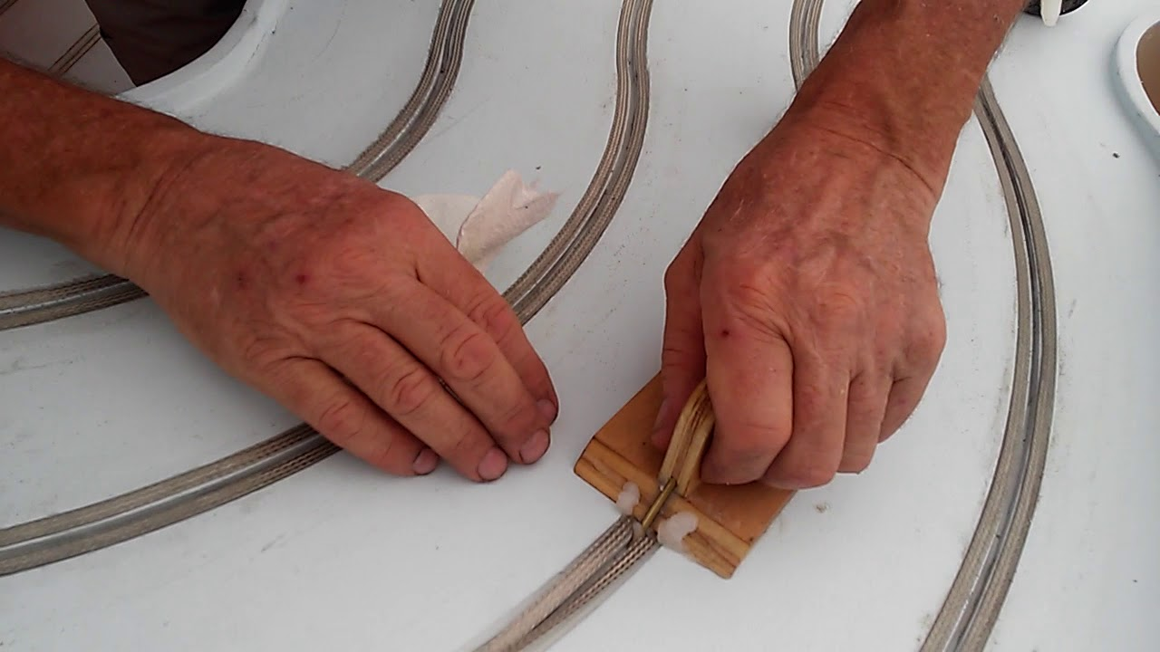 new method of installing slot car track braid