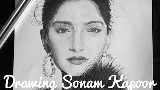 drawing Sonam Kapoor