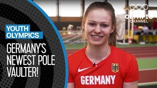 Pole Vault Training with Germany's Newest Talent   Youth Olympic Games