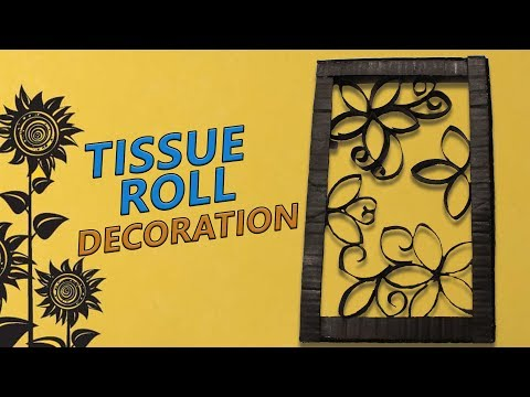 DIY Tissue roll crafts / Recycle tissue paper roll into beautiful wall art decoration