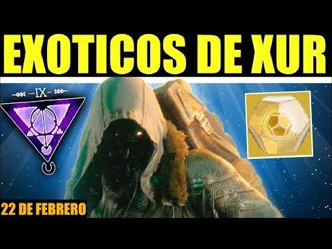 Destiny 2: Localización de Xur! Exóticos! Ventajas Aleatorias & Recomendaciones! | 22 de Febrero thumbnail