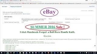 Выставление товаров на eBay. Sales – Распродажи. Цены. Часть 1.(, 2016-07-06T14:56:36.000Z)