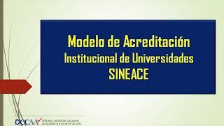 Tema: 1er Taller: Avances de la Acreditación Institucional de la UNMSM