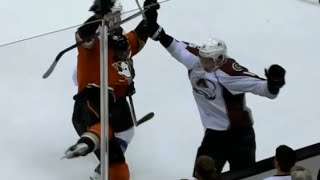 Nikita Zadorov Lays a Huge Hit on Corey Perry (10/16/15)