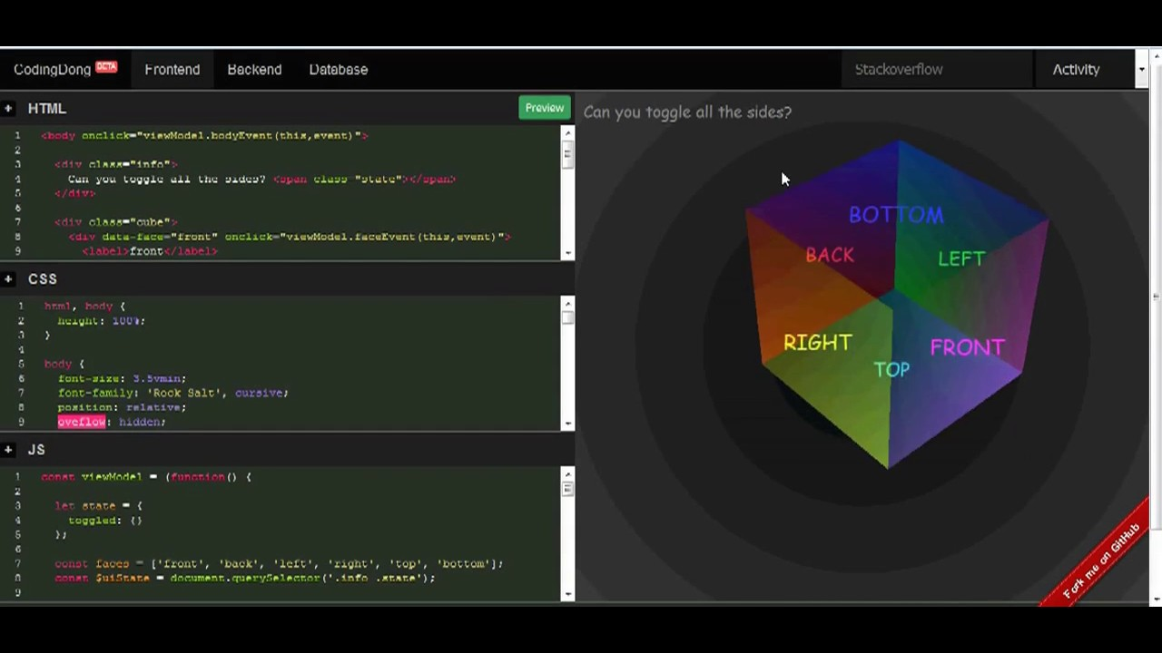 CodingDong code editor, code execute and code tester Online