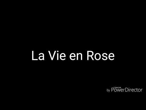 La Vie en Rose- acoustic karaoke (french and english)