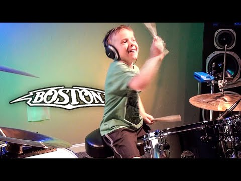 SMOKIN - BOSTON (6 year old Drummer) Drum Cover by Avery Dru