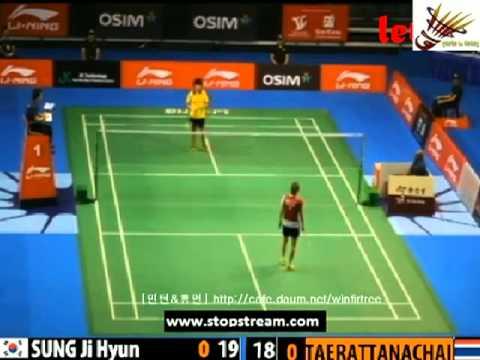 R16 - WS - Sapsiree TAERATTANACHAI vs SUNG Ji Hyun - 2013 Singapore Open