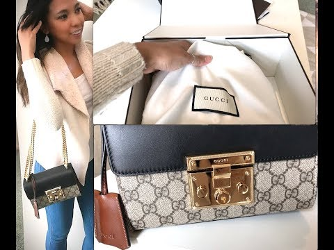 9ae6ecaf4fa2  Gucci Padlock GG Supreme Shoulder Bag  Unboxing Video Luxury Item Designer  Handbag