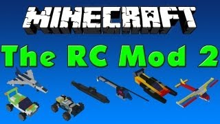 "Minecraft Mods #4 - The RC Mod 2 ""Cars, Planes, Speed Boat"" [HD]"