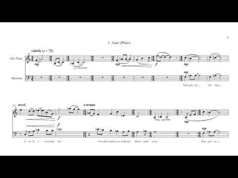 Greek Lyric Poems (2007) scrolling score