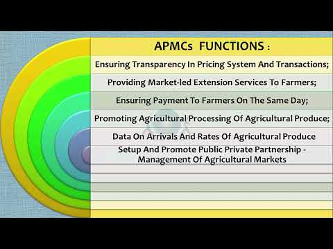 Role of APMCs in Agricultural Marketing