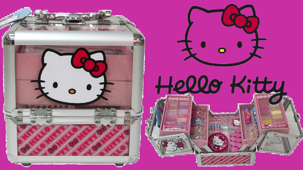 Hello Kitty Train Case Makeup Box For Kids Unboxing