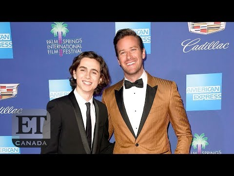 Timothee Chalamet Thanks Armie Hammer's Wife | PALM SPRINGS FILM FEST