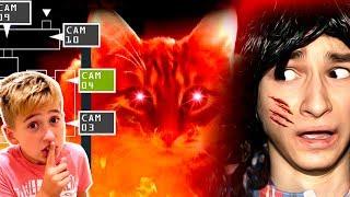 - Котик Брайн МапсА хочет нас убить 24 часа ЧЕЛЛЕНДЖ в Доме Брайн Мапса в игре 5 Ночей с ТИГРОЙ