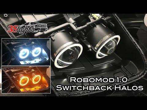 Robomod 1.0 Mitsubishi 3000GT/GTO and Dodge Stealth Headlight Morimoto Switchback Halos