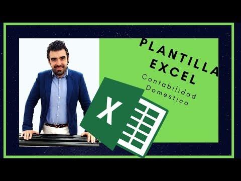 ? Plantilla de Excel ? para contabilidad domestica