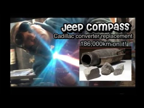 jeep-compass-2x2by4x4-replacing-catalytic-converter-&-o2-sensor-at-186,000km-engine-mileage