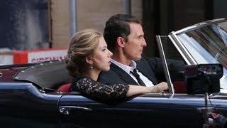 Matthew McConaughey and Scarlett Johansson Film Fashion Ad in New York - Splash News