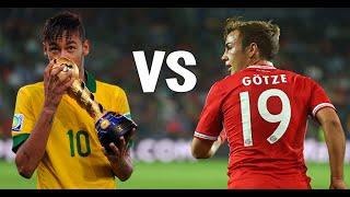 Neymar vs. mario götze ● goals & skills ● 2014