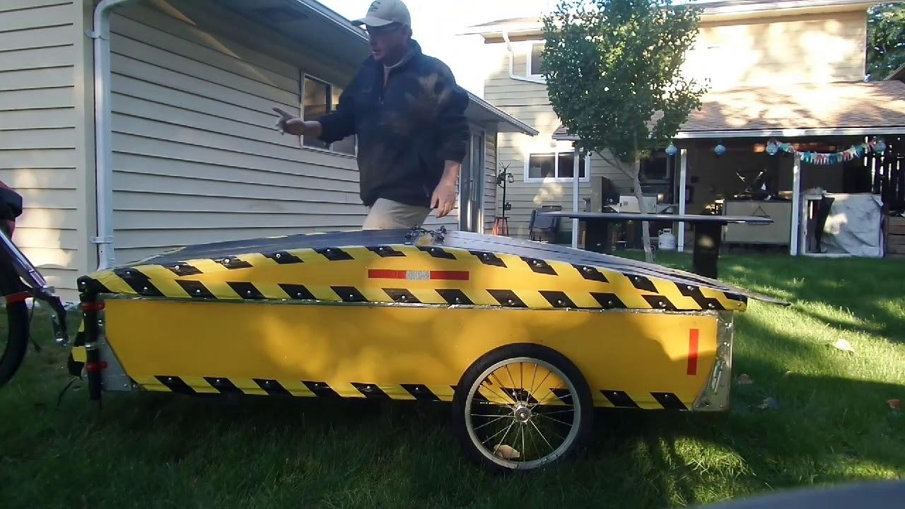Pop Up Solar Bicycle Camper