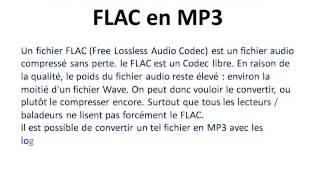 Transformer un fichier FLAC en MP3