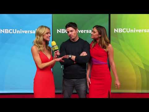 Josh Henderson and Christine Evangelista at NBC Summer Press Day