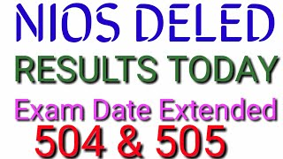 Dled results today examination date extended WISDOMKNOWLEDGE/ TELUGU NIOS